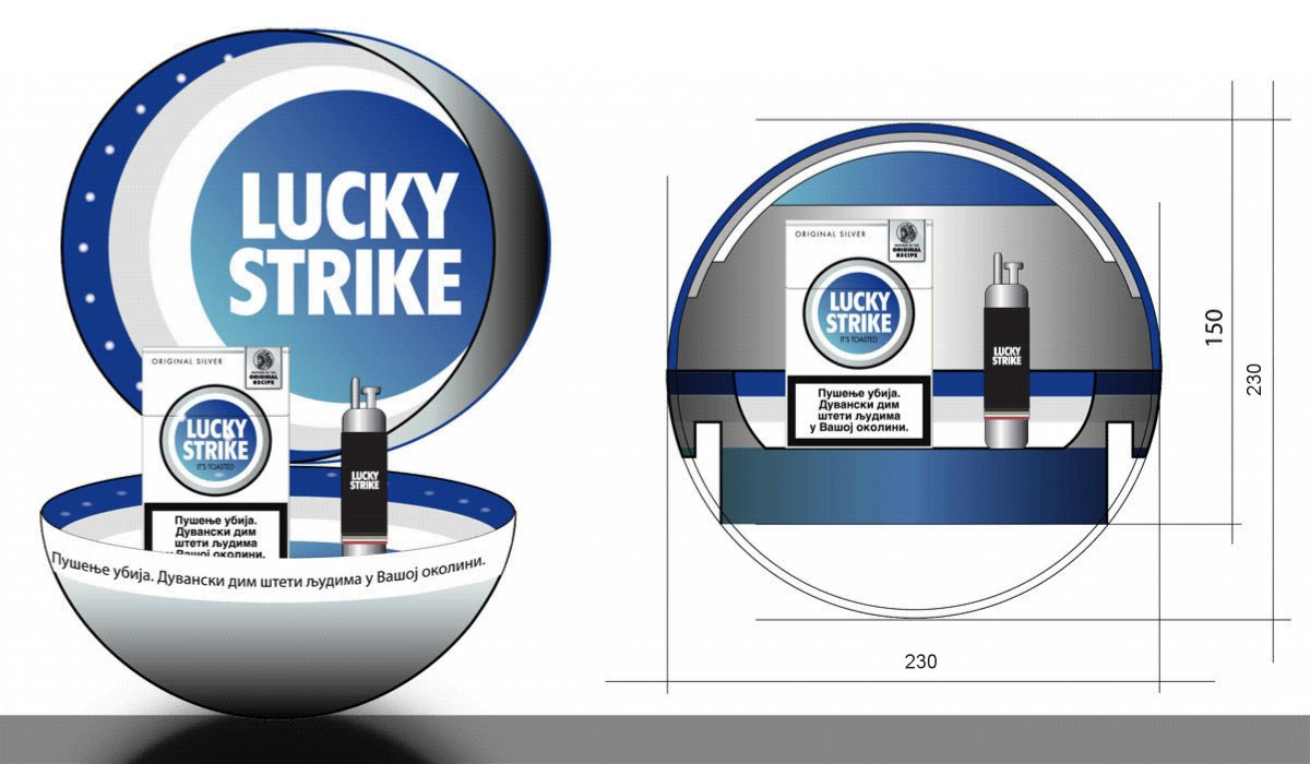 Lucky Strike / BAT / Promo Tray