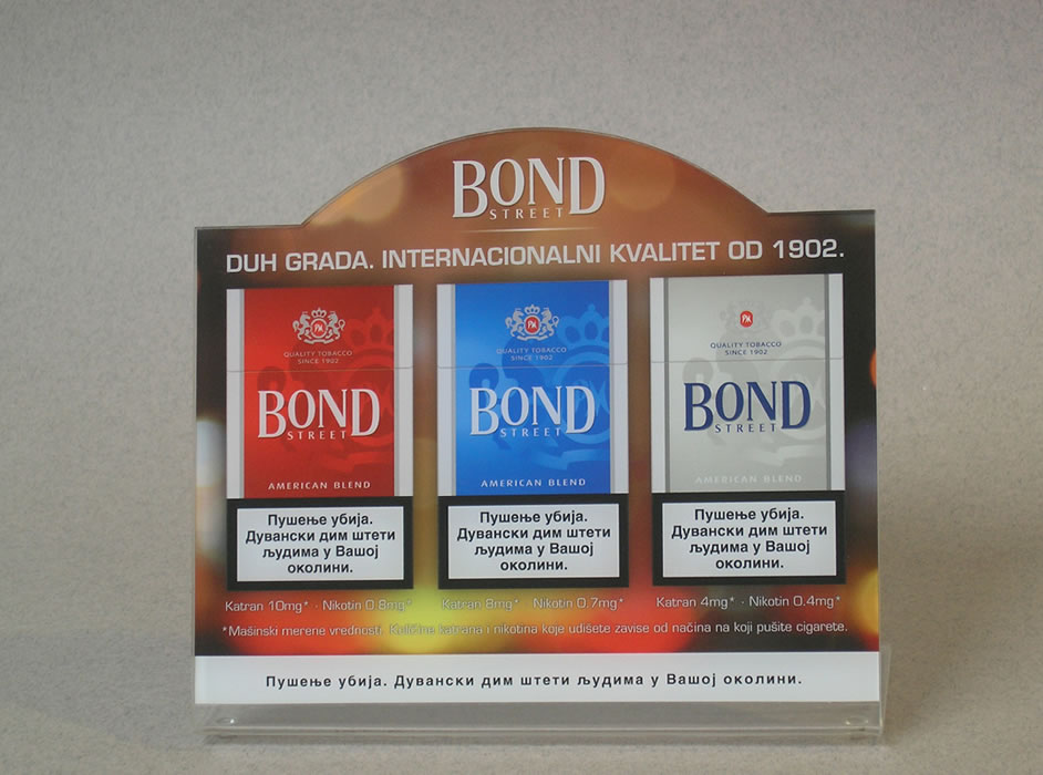 Bond / Phillip Morris / Stoni displej