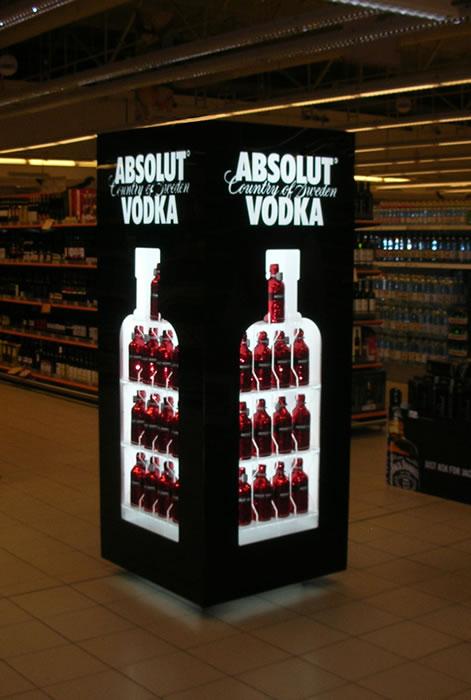 Absolut vodka / Pernod Ricard / Prodajna polica