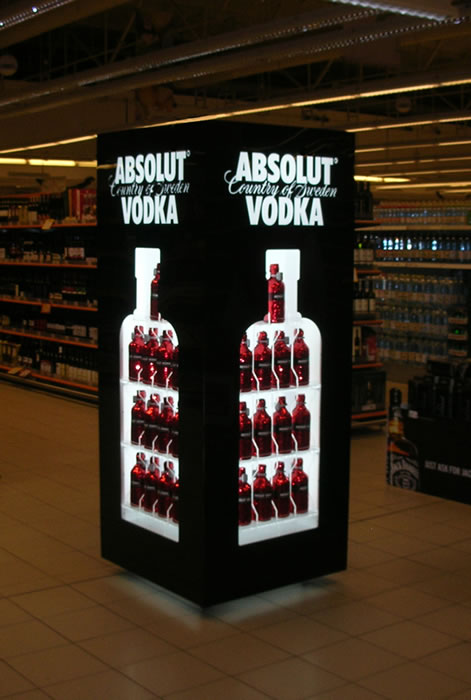 Absolut vodka / Pernod Ricard / Retail Shelf